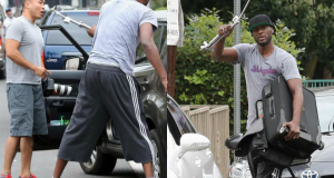 Lamar Odom Smashes The Paparazzi's Cameras And Khloe Kardashian Takes Up For Him Via Twitter