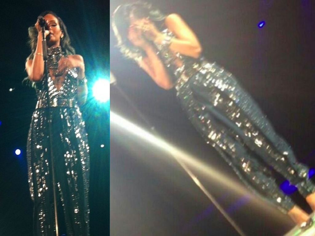 Rihanna Cries On Stage