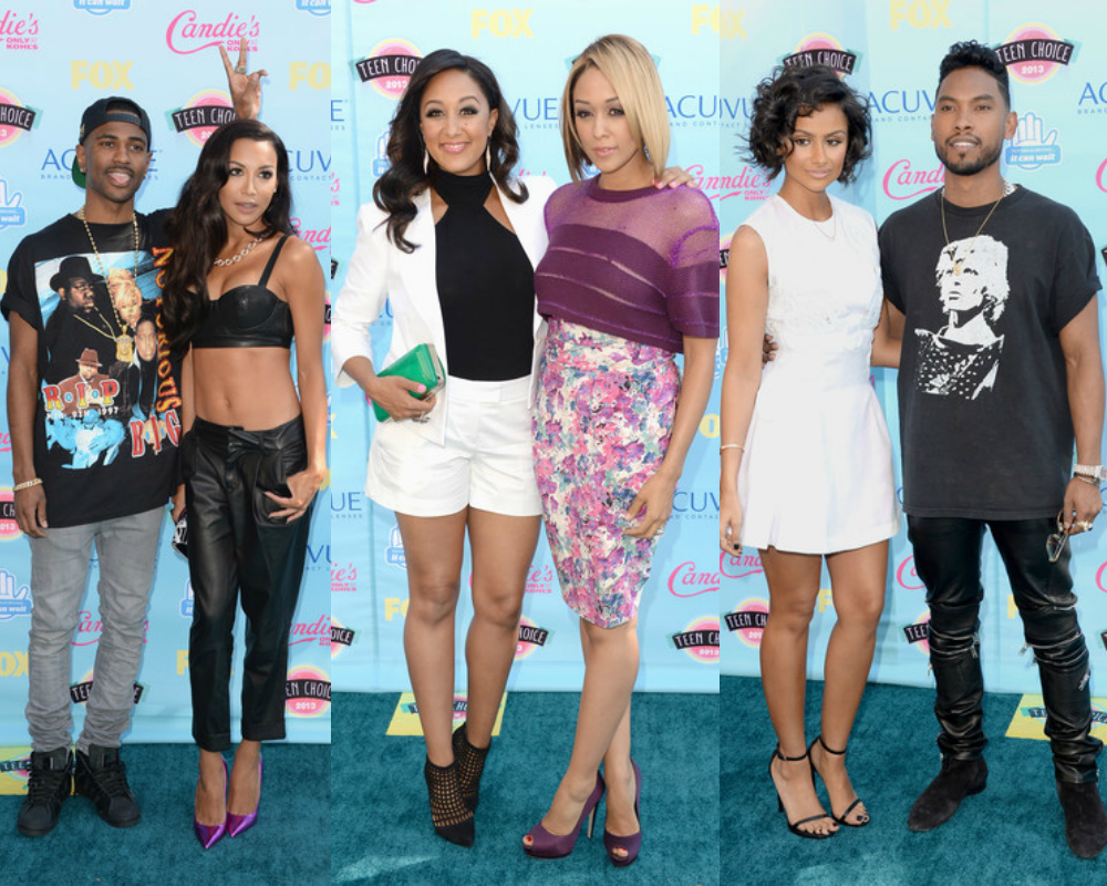 Celebrities Attend 2013 Teen Choice Awards: Tia, Tamera, Kerry Washington, Big Sean, Naya Rivera, Miguel And More