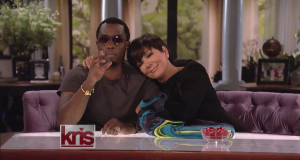 Kim Kardashian Makes Her First Post-Baby Appearance And Diddy Flirts Heavy With Kris Jenner On The Kris Show
