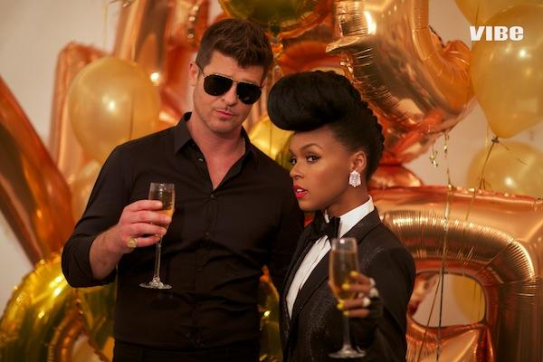 Janelle Monae And Robin Thicke Talks Racism In 20th Anniversary Issue Of Vibe Magazine