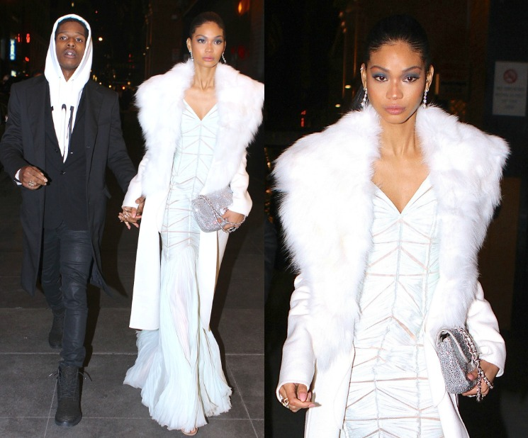 A$AP Rocky And Chanel Iman Coupled Up For Mandela Movie Screening And Dinner In NYC