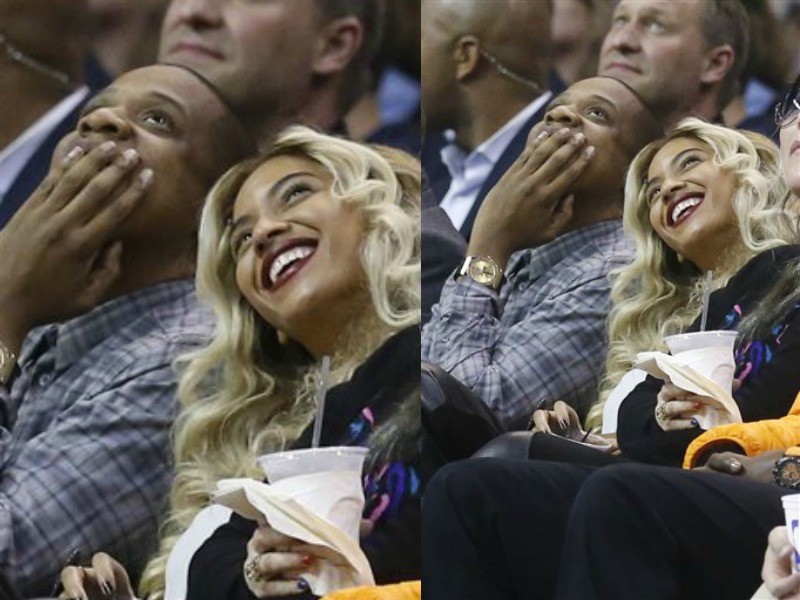 Date Night: Jay-Z And Beyonce Sit Courtside At Thunders vs Clippers Game