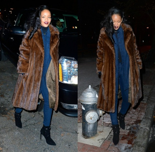 Celebrity Stalking: Rihanna Rocks Fur To Dinner + Jada Pinkett Shopping At Gucci