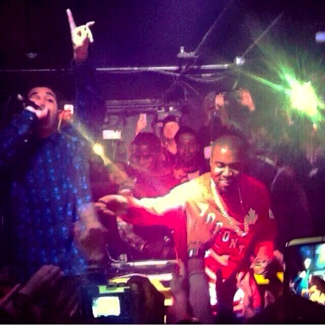 Watch Videos: Drake And Kanye Turn Up In Toronto Club