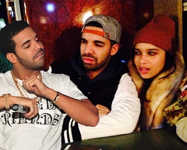 Drake Gives Rumored Boo Zoe Kravitz Private Jet And V.I.P. Treatment