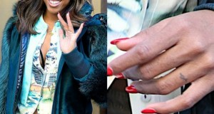 Kelly Rowland Flaunts Tatto'd Ring Finger While Shopping At Bergdorfs