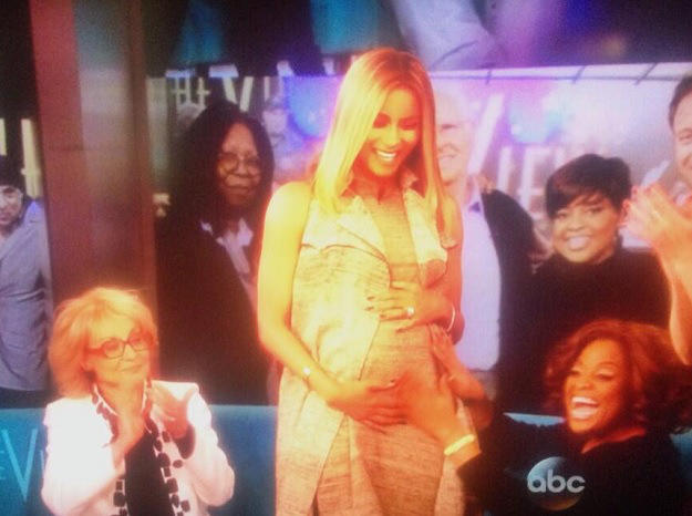 See Footage: Ciara Confirms Pregnancy On The View