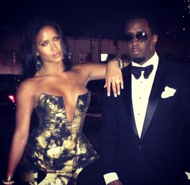 Cassie Slays In Michael Costello Gown While Wearing Diddy On Her Arm For Golden Globe Awards