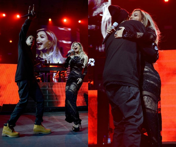 Jay Z Brings Out Special Guest Beyonce During Direct TV's Superbowl Party