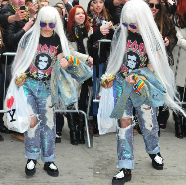 Yes Hair Gawds! Lady Gaga Serves In Long Platinum Blonde Weave