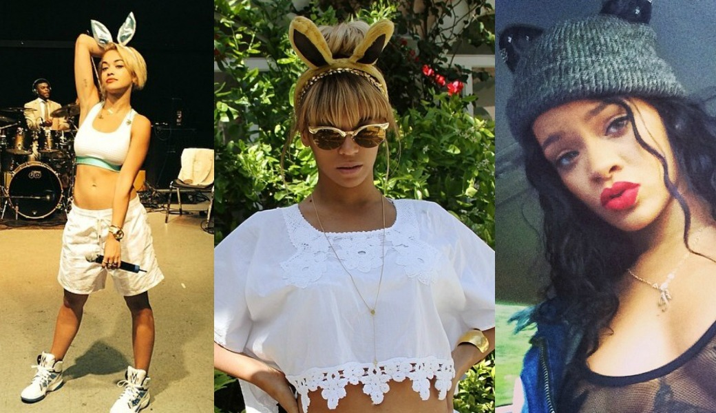 Who Rocked It Better: Rihanna, Beyonce And Rita Ora Rocks Bunny Ears On Easter