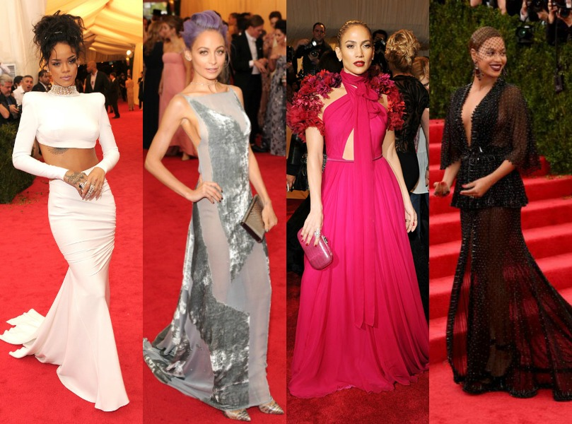Celebrities Attend 2014 Met Gala: Beyonce, Jay-Z, Rihanna, ASAP Rocky, Chanel Iman, J-Lo, Kim Kardashian, Kanye West And More