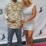 Kimbella & Juelz Santana arrives to Lil Kim's Baby Shower at Broad St Ballroom