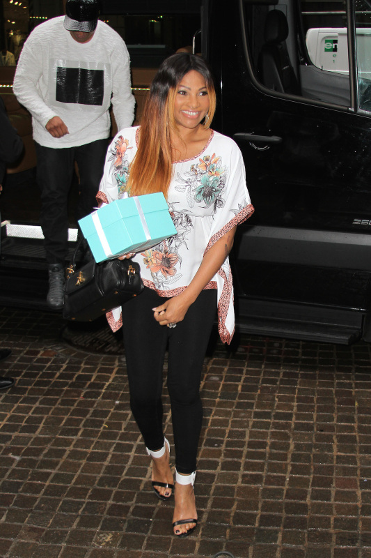 "Sandra ""Pepa"" Denton arrives to Lil Kim's Baby Shower at Broad St Ballroom in NYC"
