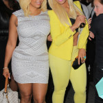Tiffany Foxx arrives to Lil Kim's Baby Shower at Broad St Ballroom in NYC