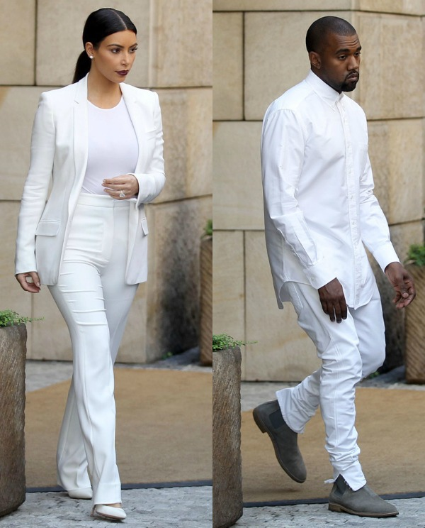 Kim-Kardashian-And-Kanye-West-Attends-Friends-Wedding