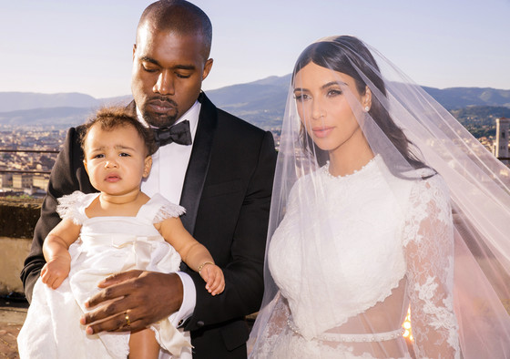 Kim Kardashian And Kanye West Share Photos From Their Wedding Album