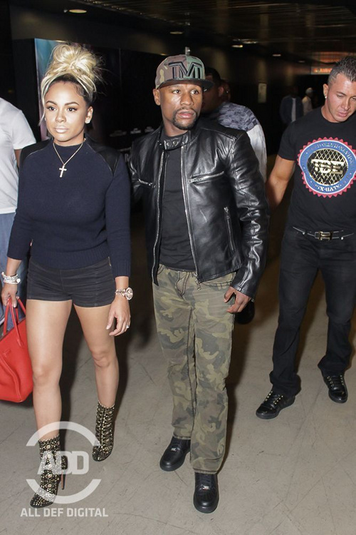 Floyd Mayweather And Girlfriend Bad Medina Steals The Show: Celebs Attend All Def Comedy Live