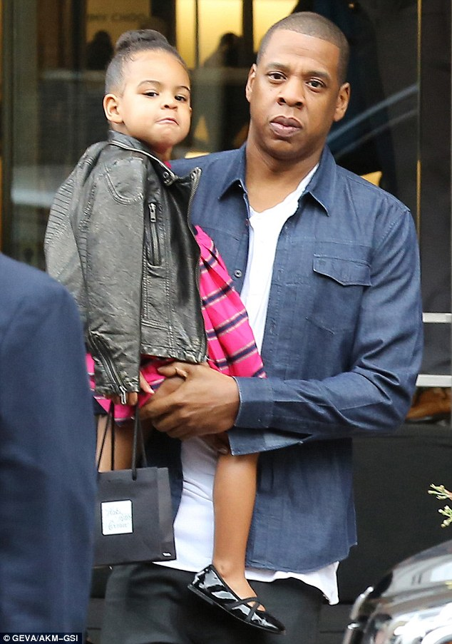 Happy Now?! Blue Ivy Rocks A Bun While Shopping With Beyonce And Jay Z