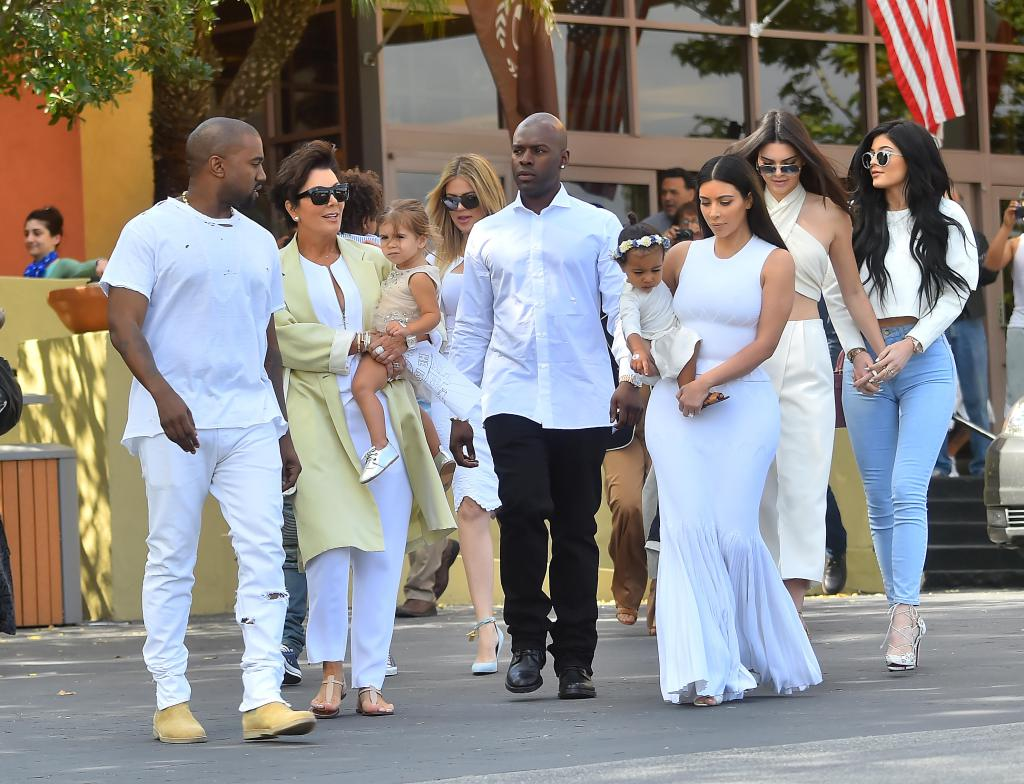 The Kardashian Family attend Easter Services in Woodland Hills