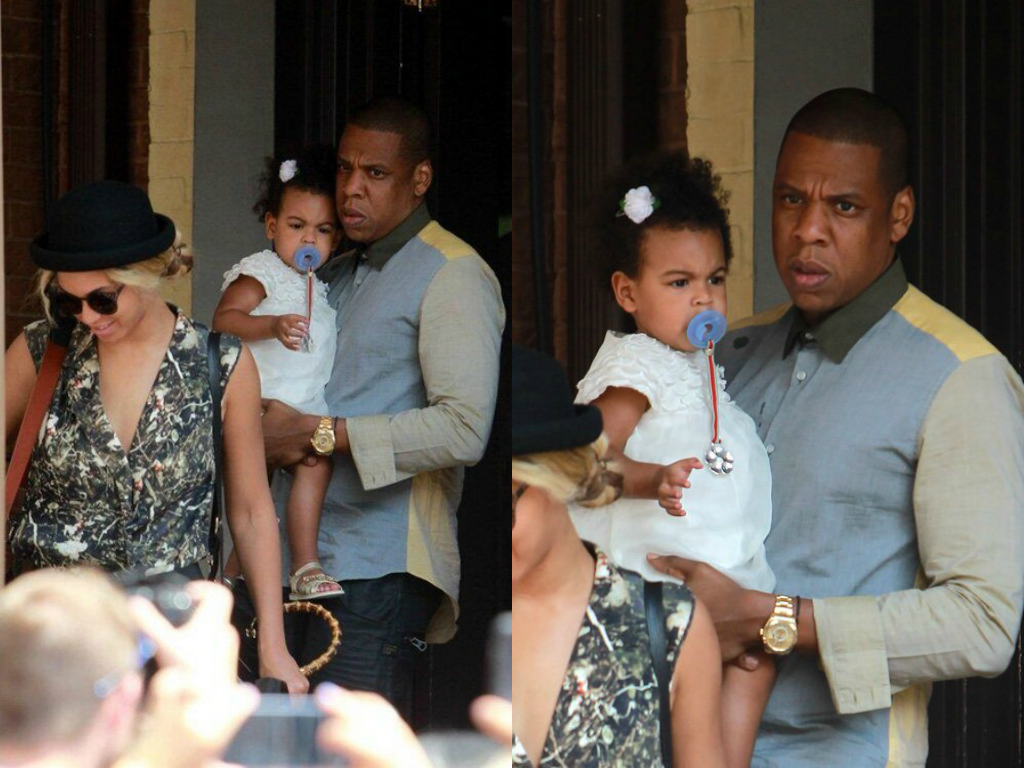 Beyonce, Jay-Z And Blue Ivy Eat Lunch Together In Toronto