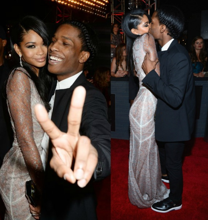 ASAP Rocky's Girlfriend Chanel Iman Breaks Up Fight Between Him And Security Guard At VMA'S