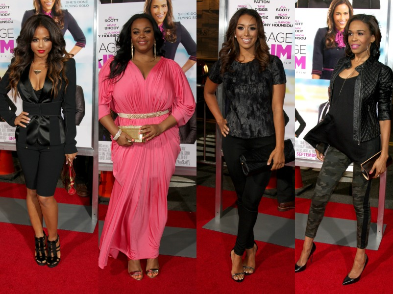 """Celebs Stylishly Hit The Red Carpet For """"Baggage Claim"""" Premiere"""