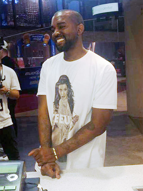Kanye West Rocks Shirt With Kim Kardashian On It And Leaves Paparazzo To Foot $12,000 Dinner Bill