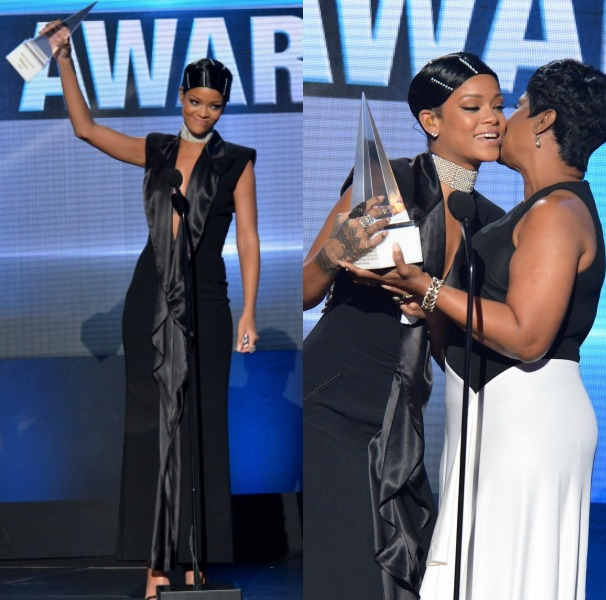 Rihanna Brings Her Doobie And Bobby Pins To The AMA's: Receives First Icon Award