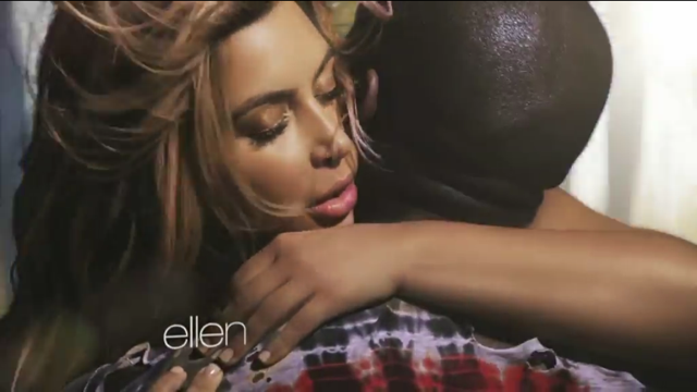 """Kim Kardashian Makes Out With Kanye West On A Motorcycle In Latest Video """"Bound 2″"""