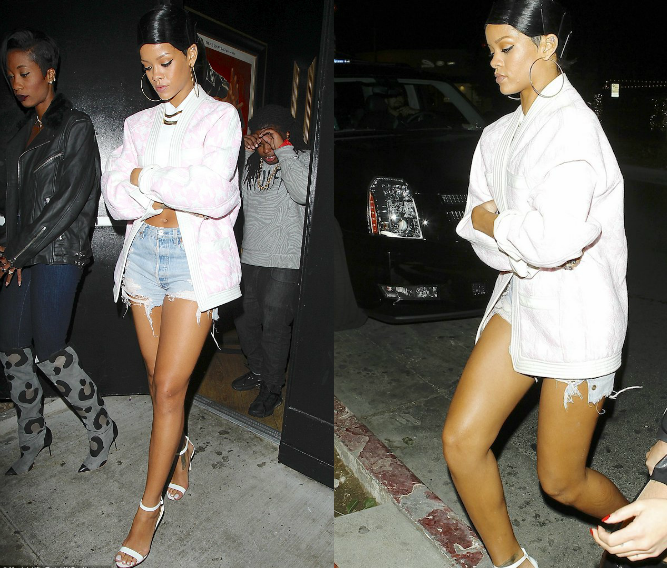 Rihanna Takes Her Doobie To Drake's Concert In L.A.