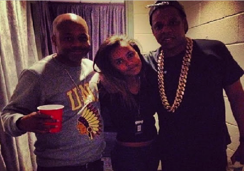Dame Dash And Daughter Flick It Up With Jay-Z Backstage At L.A. Concert Meanwhile Khloe Kardashian And Lamar Odom Avoids Each Other