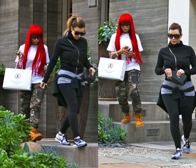 Besties Kim Kardashian And Blac Chyna Goes Shopping And Get Eyebrows Waxed