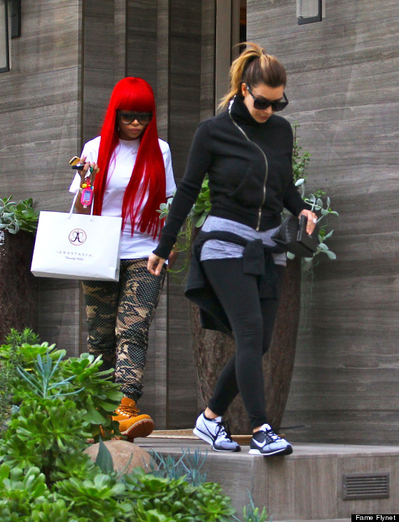 Kim Kardashian & Blac Chyna Get Their Brows Done