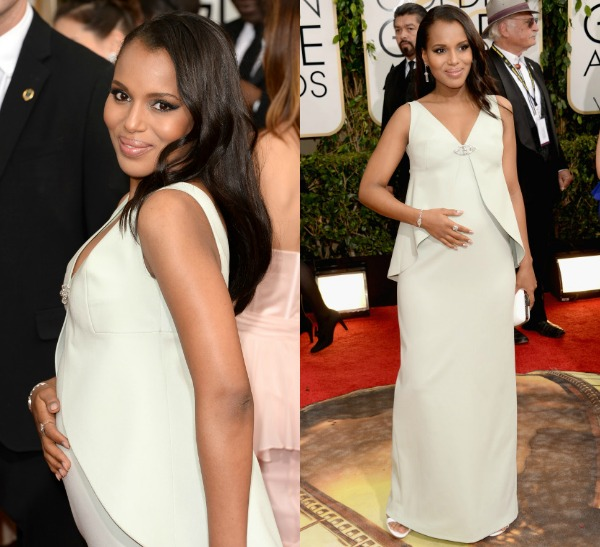 Kerry Washington Debuts Belly Bump At Golden Globe Awards