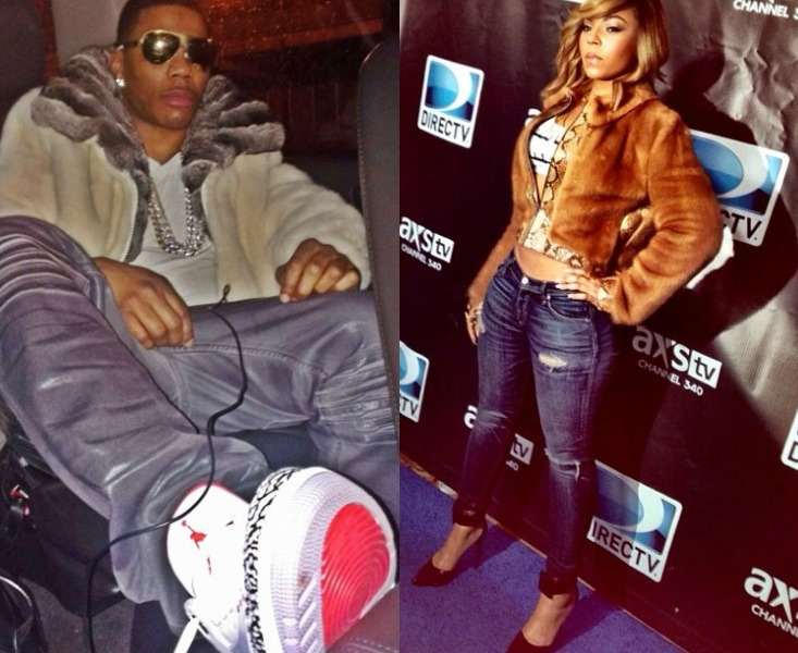 Are They Getting Back Together? Ashanti And Nelly Hit NYC Club With Diddy In Expensive Furs