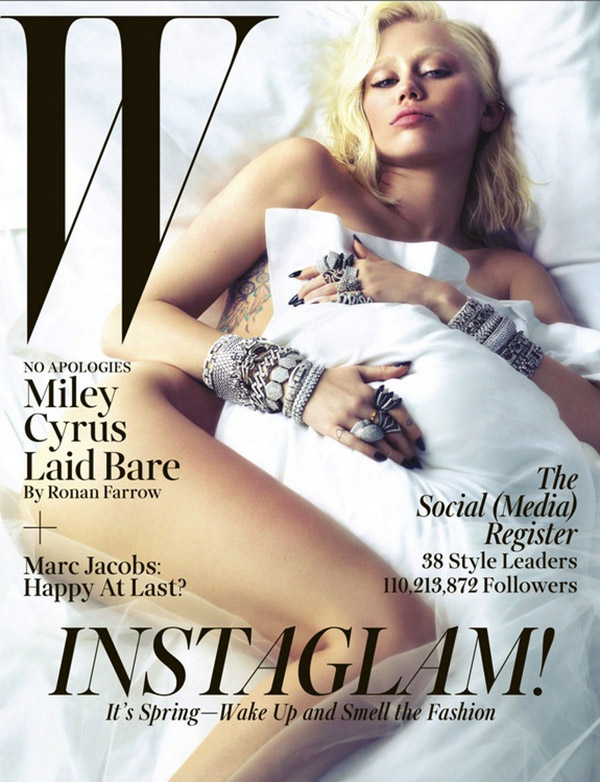 Miley Cyrus Gets Naked For W Magazine And Says She Doesn't Give A Sh-t About Criticism