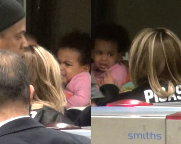 Beyonce Gets A Crying Blue Ivy Together In Germany Airport