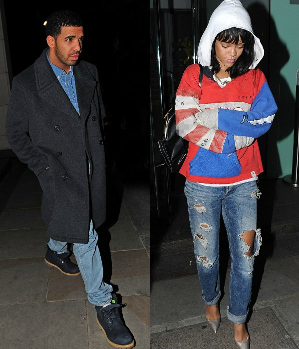 Drake And Rihanna Goes To Dinner Back-To-Back In London And Amsterdam