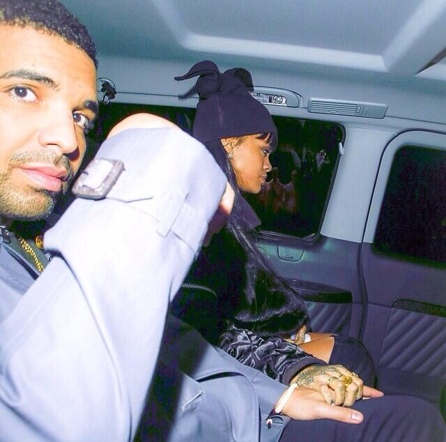 Too Cute! Drake And Rihanna Spotted Holding Hands In The Backseat Of Their Car
