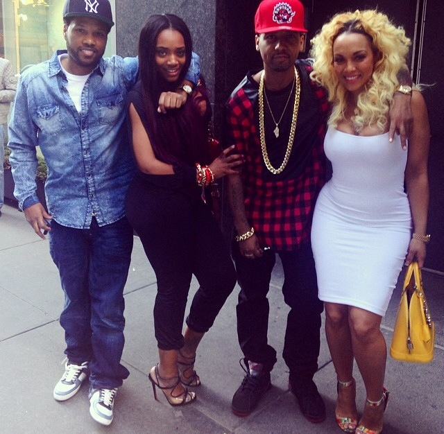 Double Date: Juelz Santana, Kimbella, Yandy Smith And Mandeecees At Philippe's In NYC