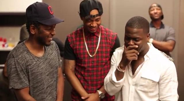 Video: Kevin Hart A.K.A Chcolate Drop Spits Bars For Kendrick Lamar