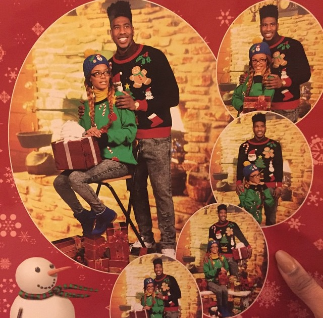 """Teyana Taylor And Iman Shumpert Sends Out Funny Christmas Cards In """"Ugly"""" Sweaters"""