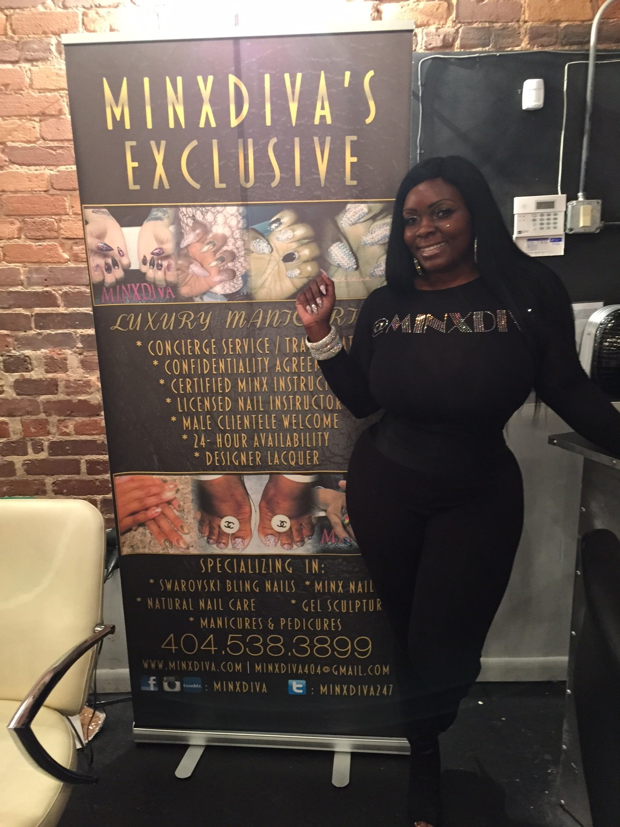 Ebony McAllister Owner Of Minx Diva Nails Takes Atlanta